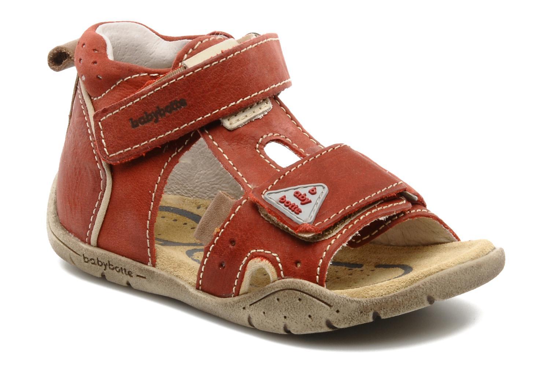 Sandales et nu-pieds Babybotte Tedi Rouge vue détail/paire