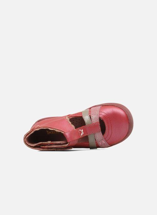 Bottines d'été Babybotte Sibel Rouge vue gauche