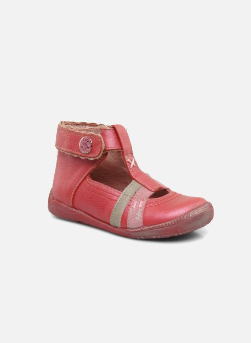 Summer boots Babybotte Sibel Red detailed view/ Pair view