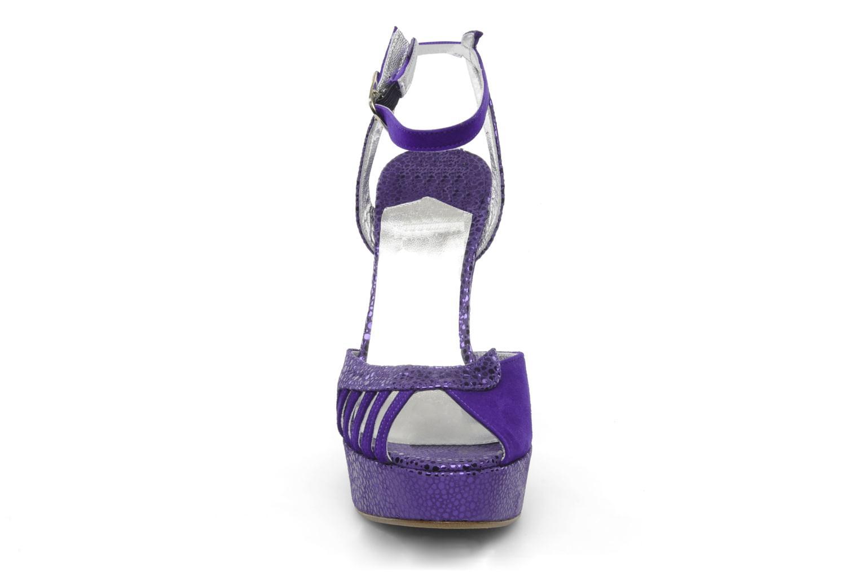 Sandales et nu-pieds Terry de Havilland Margaux Violet vue portées chaussures