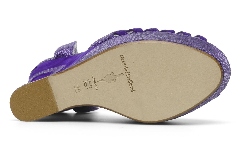 Sandales et nu-pieds Terry de Havilland Margaux Violet vue haut
