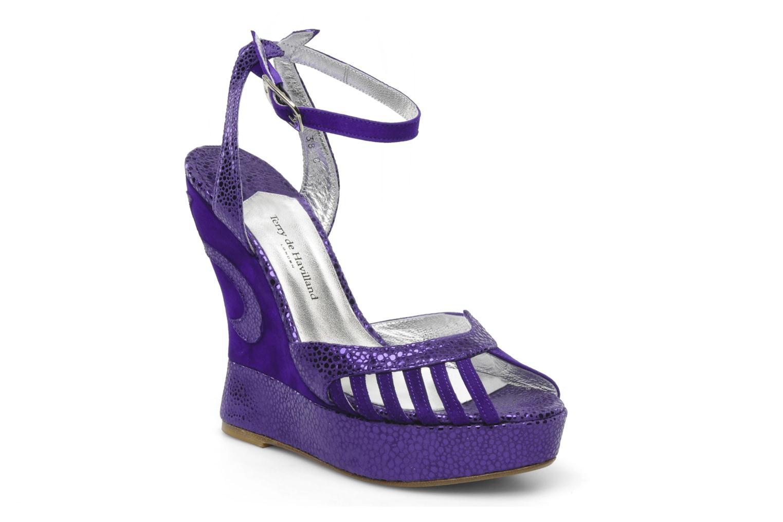 Sandales et nu-pieds Terry de Havilland Margaux Violet vue détail/paire