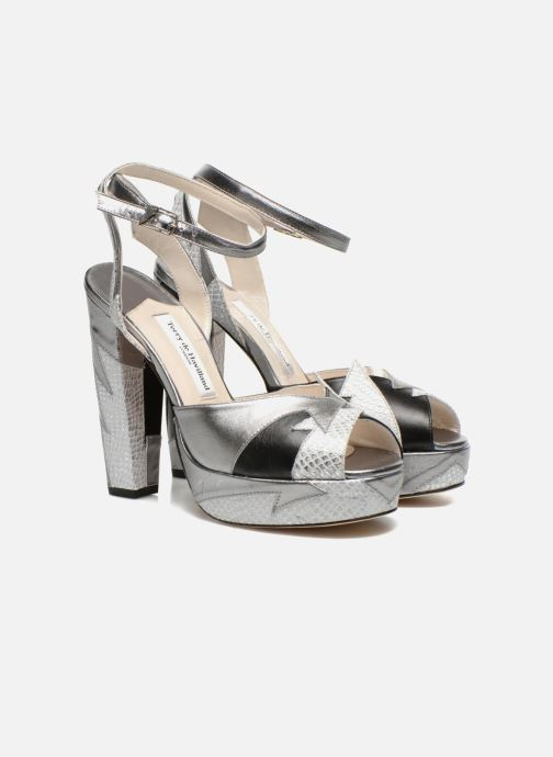 Sandales et nu-pieds Terry de Havilland Zia Gris vue 3/4