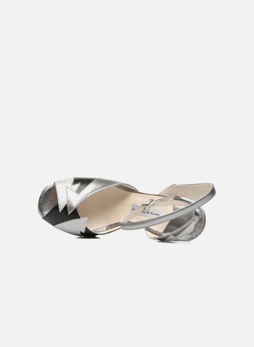Sandales et nu-pieds Terry de Havilland Zia Gris vue gauche