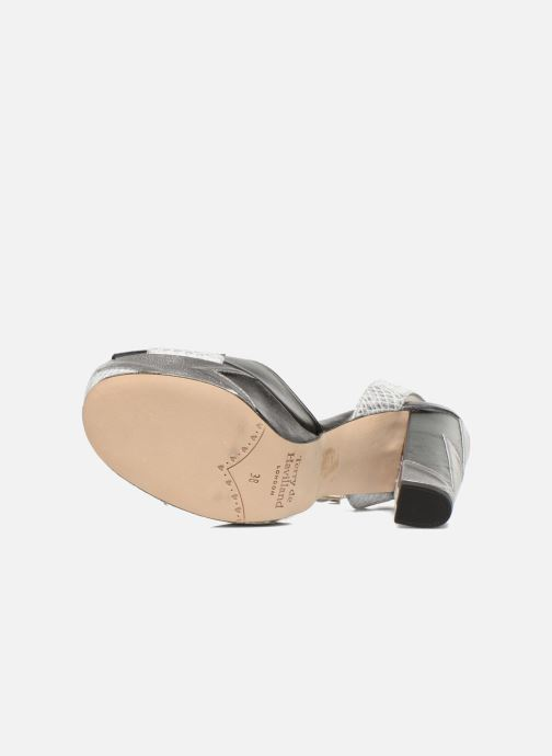 Sandales et nu-pieds Terry de Havilland Zia Gris vue haut