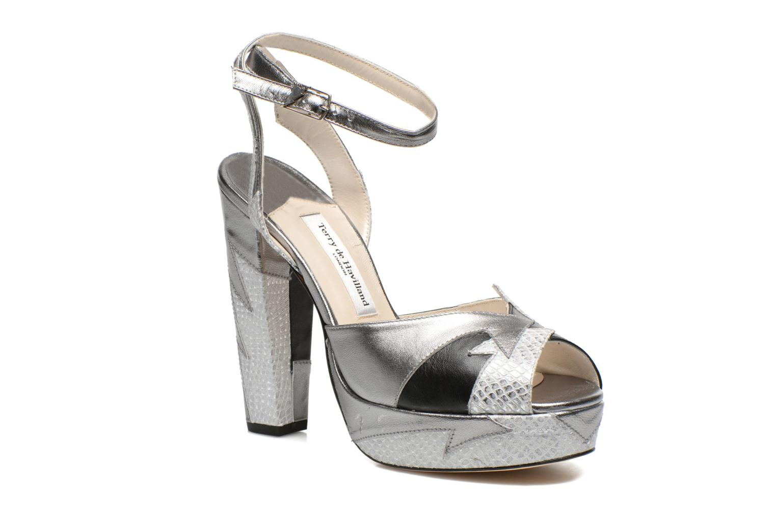 Sandals Terry de Havilland Zia Grey detailed view/ Pair view