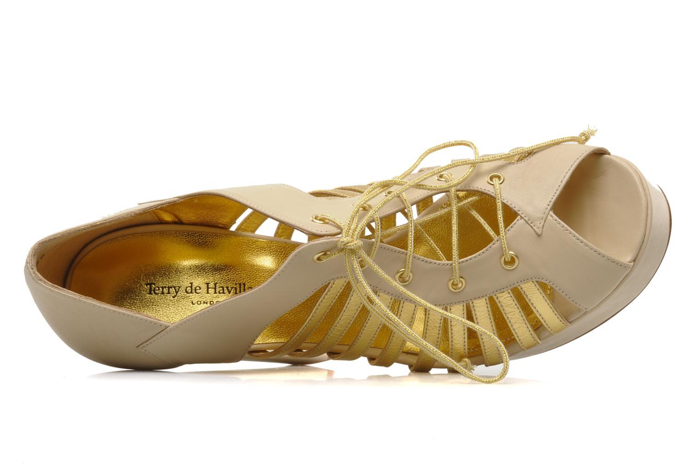 Pumps Terry de Havilland Jessie gold/bronze ansicht von links
