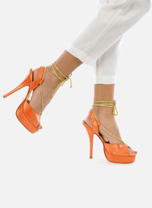 Sandales et nu-pieds Terry de Havilland Lisette Orange vue bas / vue portée sac