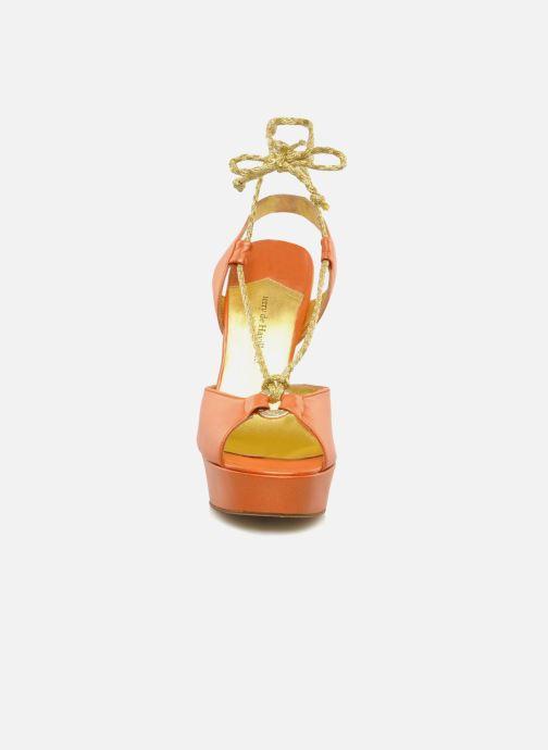 Sandales et nu-pieds Terry de Havilland Lisette Orange vue portées chaussures