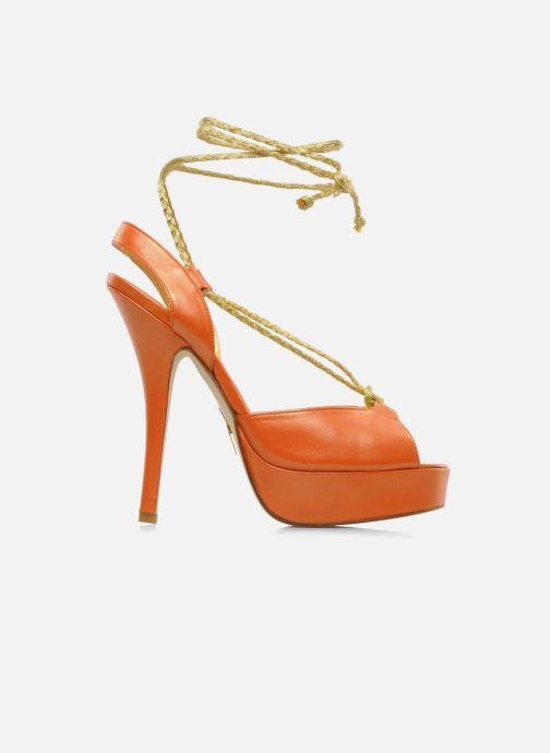 Terry Dark Leather Sandales Lisette Nu De Orange pieds Havilland Et P8nw0Ok