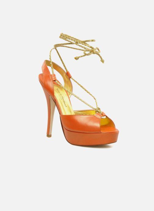 Sandales et nu-pieds Terry de Havilland Lisette Orange vue détail/paire