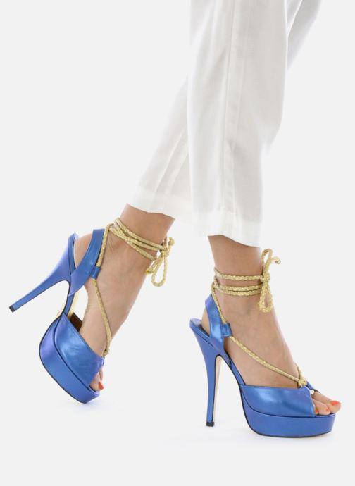 Sandales et nu-pieds Terry de Havilland Lisette Bleu vue bas / vue portée sac