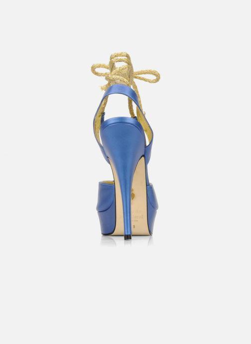 Sandalias Terry de Havilland Lisette Azul vista lateral derecha