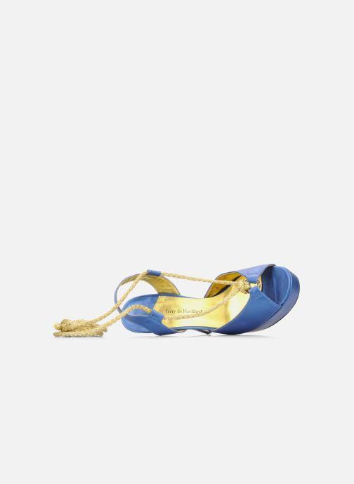 Sandales et nu-pieds Terry de Havilland Lisette Bleu vue gauche