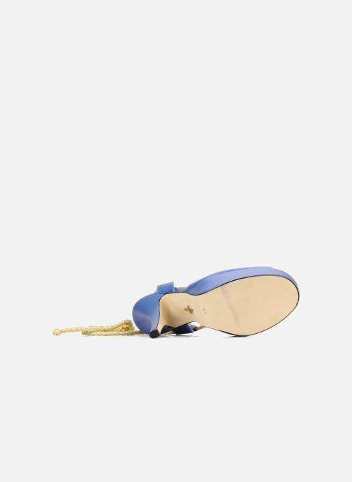 Sandales et nu-pieds Terry de Havilland Lisette Bleu vue haut