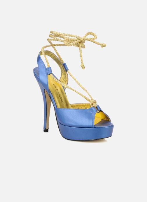 Sandales et nu-pieds Terry de Havilland Lisette Bleu vue détail/paire