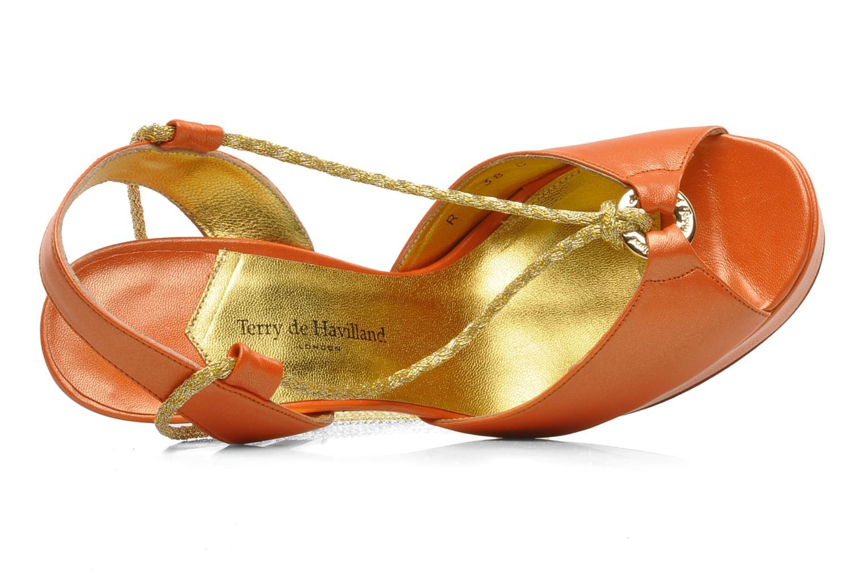 Sandals Terry de Havilland Lisette Orange view from the left