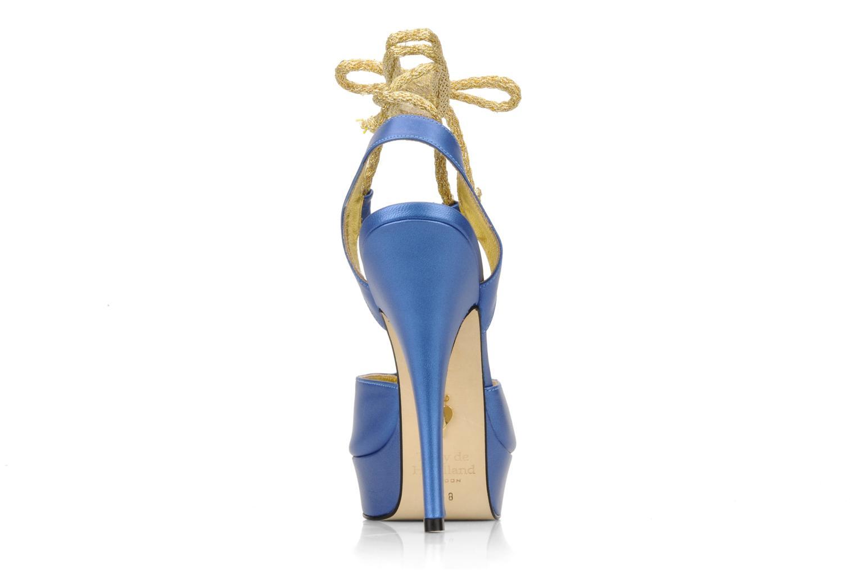Sandalen Terry de Havilland Lisette blau ansicht von rechts