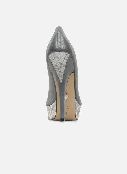 Zapatos de tacón Terry de Havilland Amber Plateado vista lateral derecha