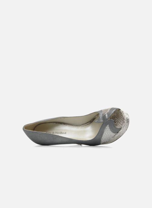 Zapatos de tacón Terry de Havilland Amber Plateado vista lateral izquierda