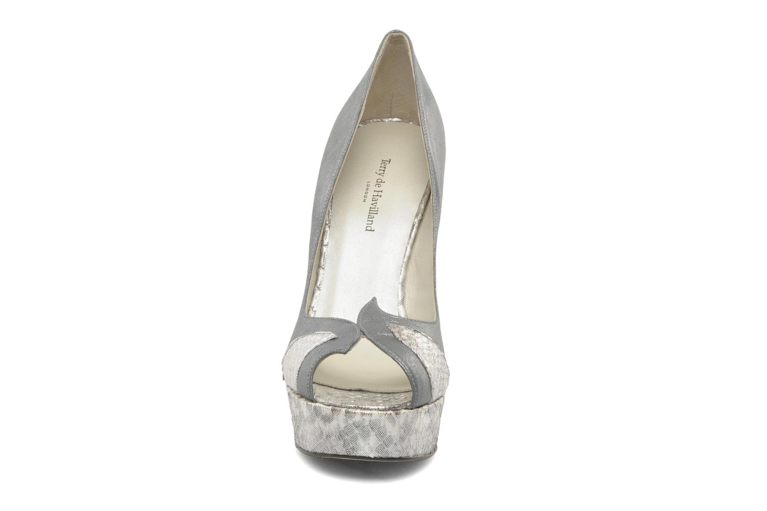 High heels Terry de Havilland AMBER PYTHON Silver model view