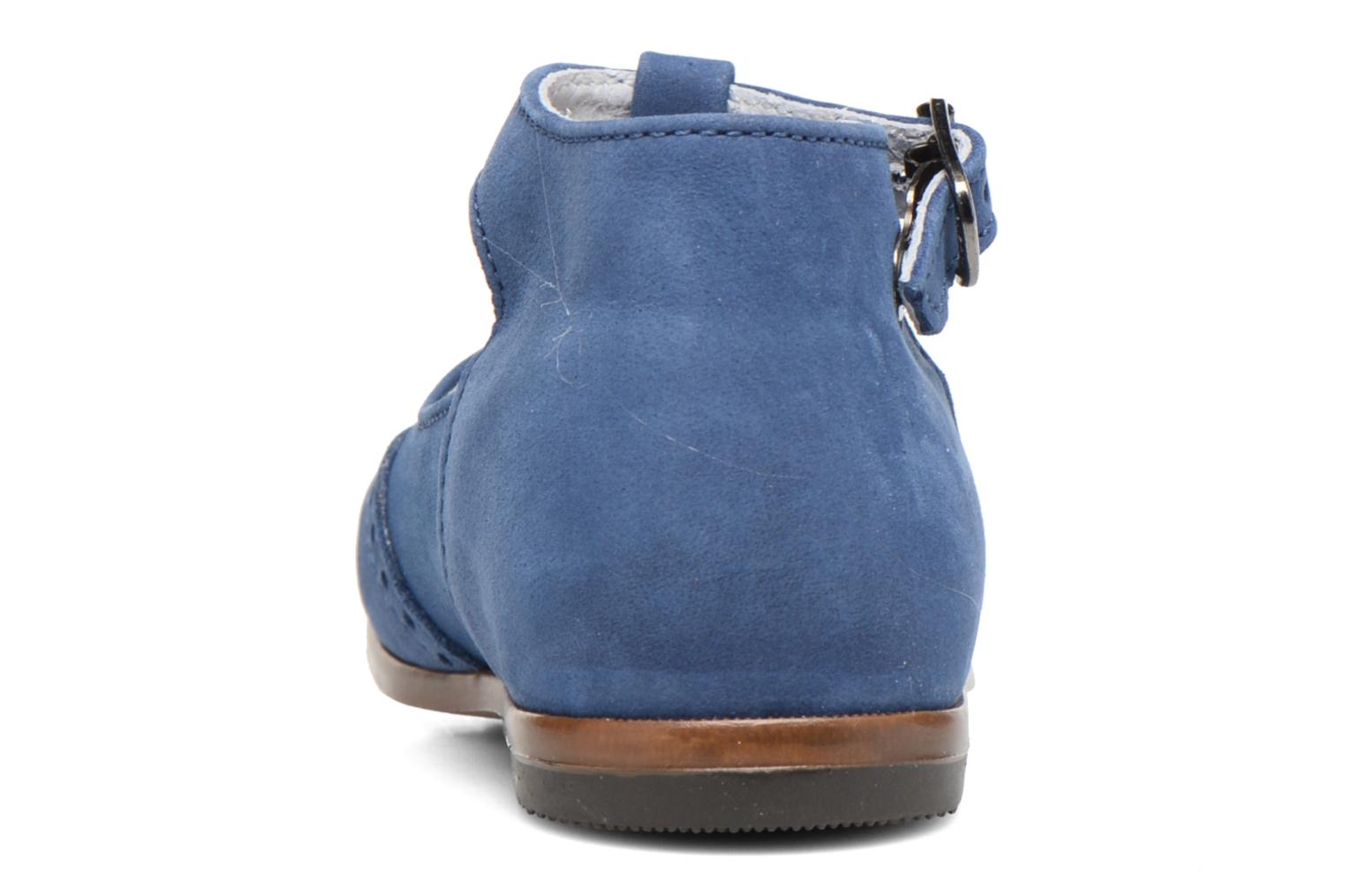 Summer boots Little Mary François Blue view from the right