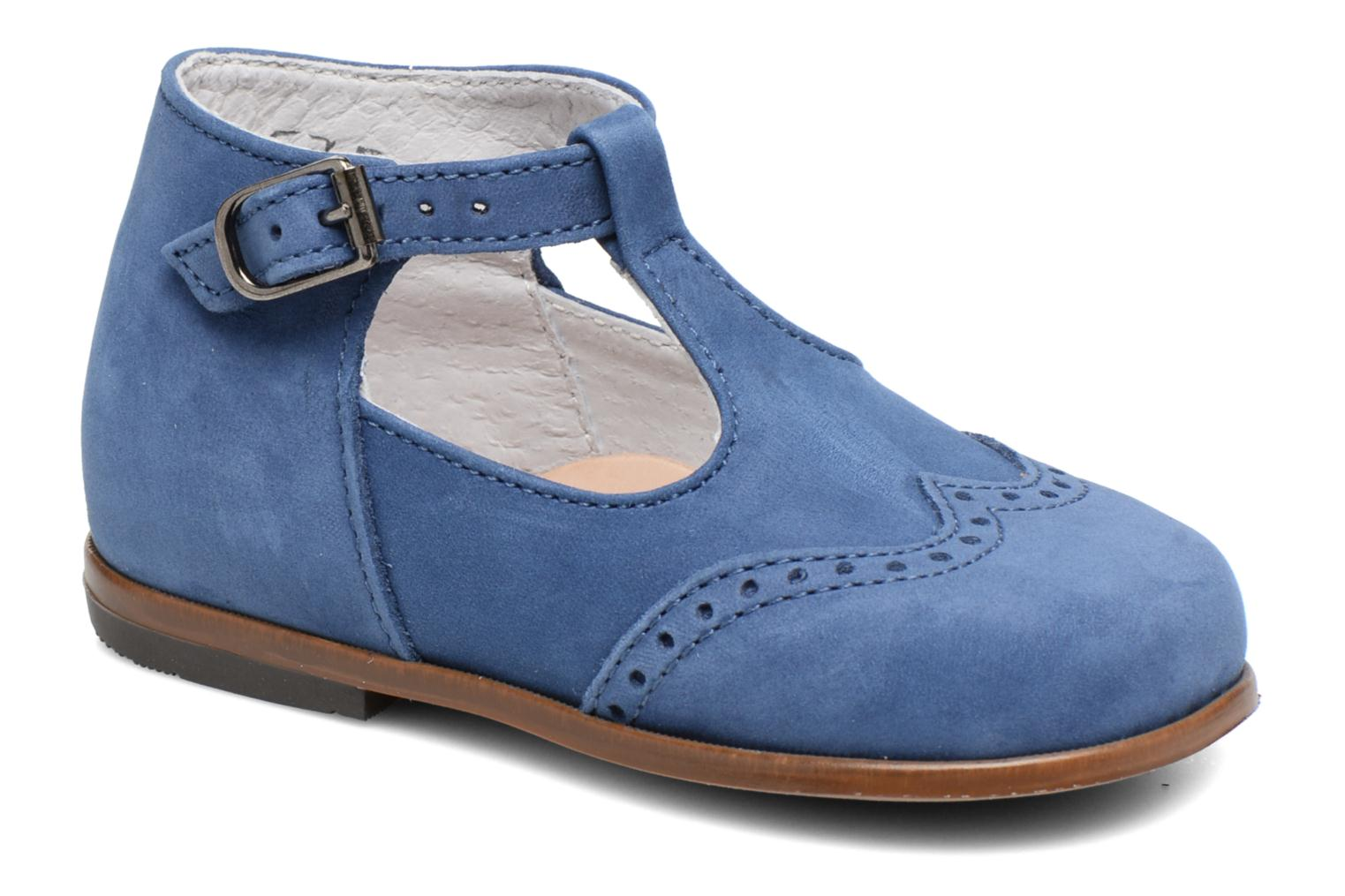 Summer boots Little Mary François Blue detailed view/ Pair view