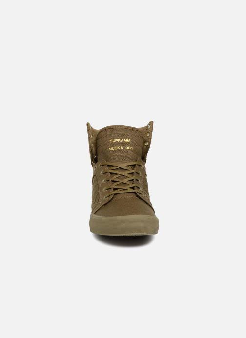 Baskets Supra Skytop Vert vue portées chaussures