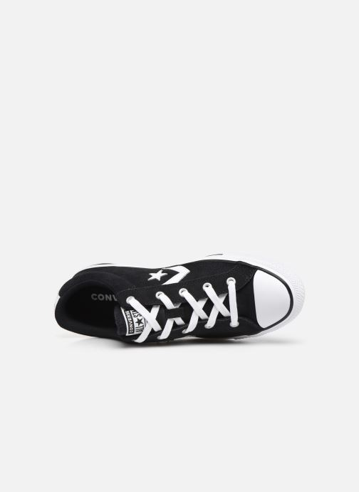 Trainers Converse Star Player Suede Ox W Black view from the left