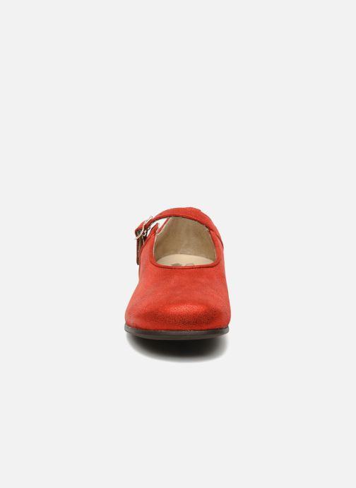 Ballerines start rite classics ANNABEL Rouge vue portées chaussures