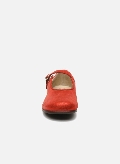 Ballerines start rite classics ANNABEL Rouge vue portées chaussures