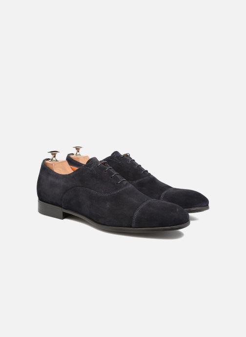 Chaussures à lacets Santoni Simon 11011 Bleu vue 3/4