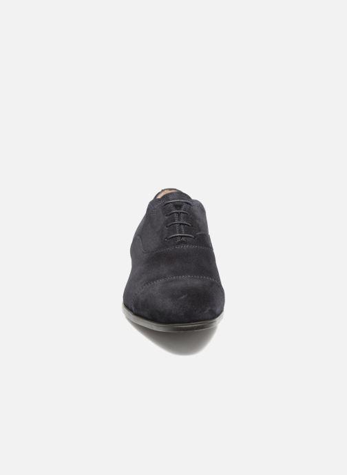 Schnürschuhe Santoni Simon 11011 blau schuhe getragen