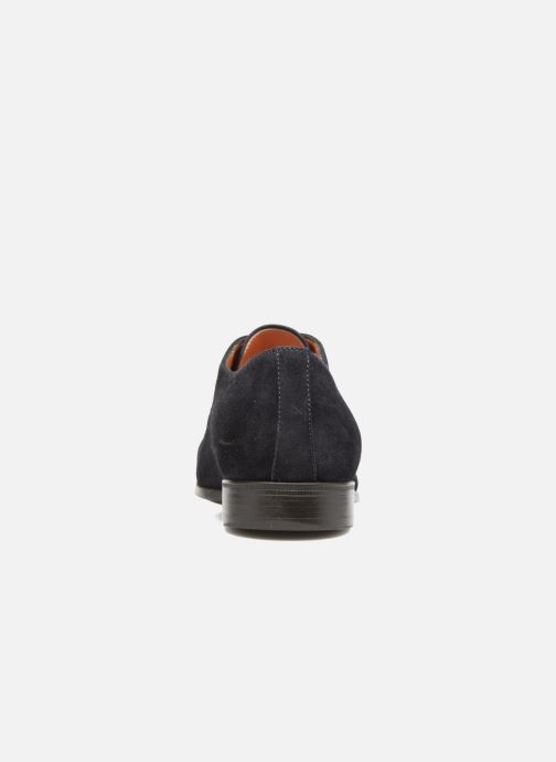 Chaussures à lacets Santoni Simon 11011 Bleu vue droite