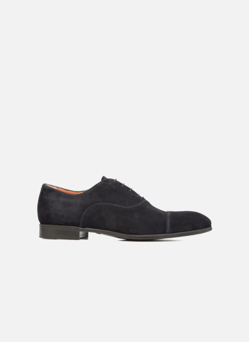 Lace-up shoes Santoni Simon 11011 Blue back view