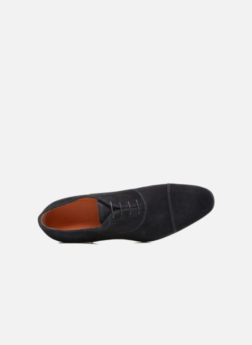 Chaussures à lacets Santoni Simon 11011 Bleu vue gauche