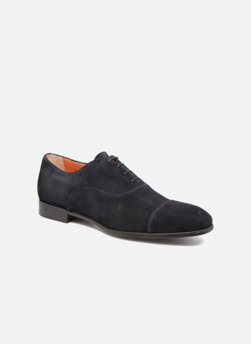 Chaussures à lacets Santoni Simon 11011 Bleu vue détail/paire