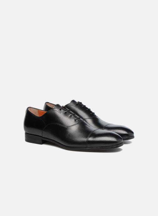 Lace-up shoes Santoni Simon 11011 Black 3/4 view