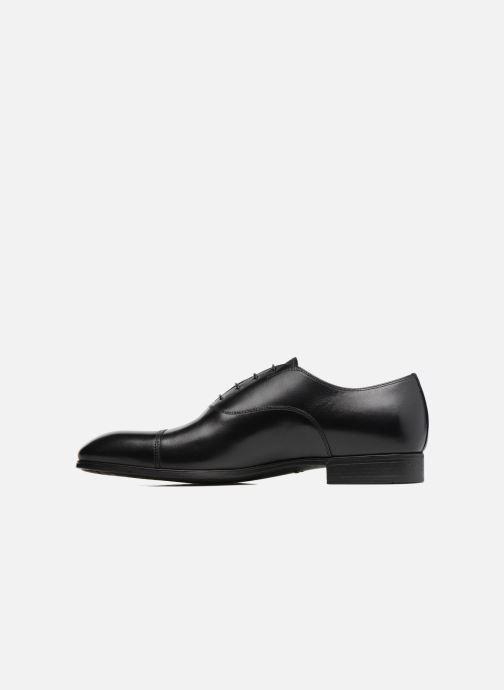 Lace-up shoes Santoni Simon 11011 Black front view