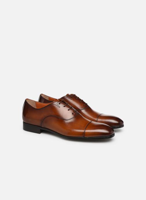 Zapatos con cordones Santoni Simon 11011 Marrón vista 3/4
