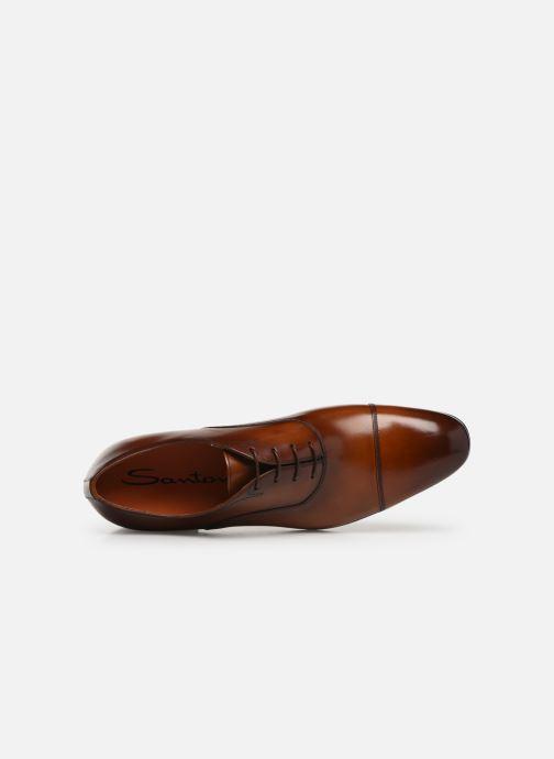Zapatos con cordones Santoni Simon 11011 Marrón vista lateral izquierda