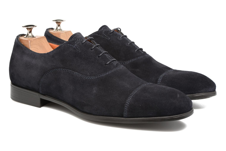 Lace-up shoes Santoni Simon 11011 Blue 3/4 view