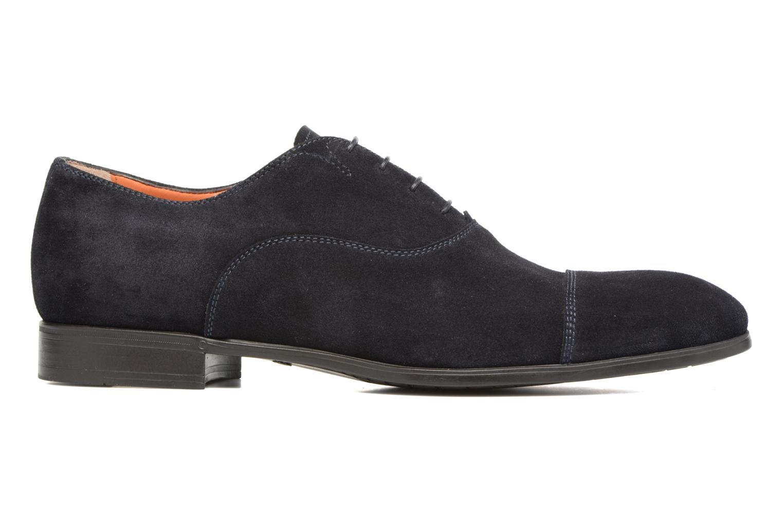 Lace-up shoes Santoni Simon 11011 Blue back view