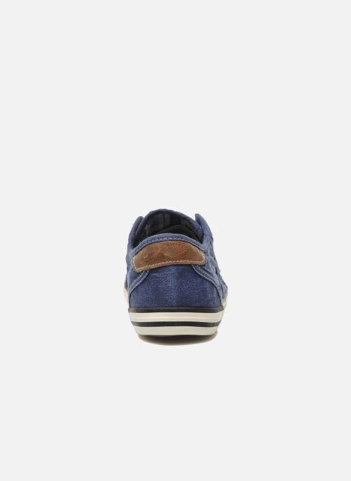 Sneaker Mustang shoes Marcus blau ansicht von rechts
