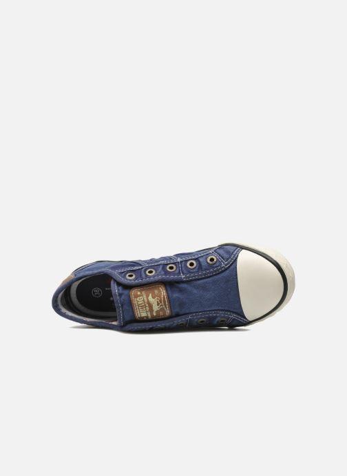 Sneaker Mustang shoes Marcus blau ansicht von links