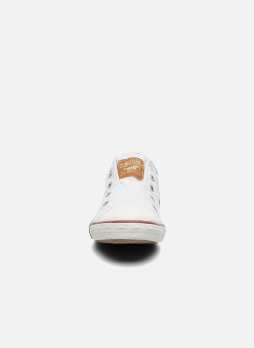 Baskets Mustang shoes Marcus Blanc vue portées chaussures