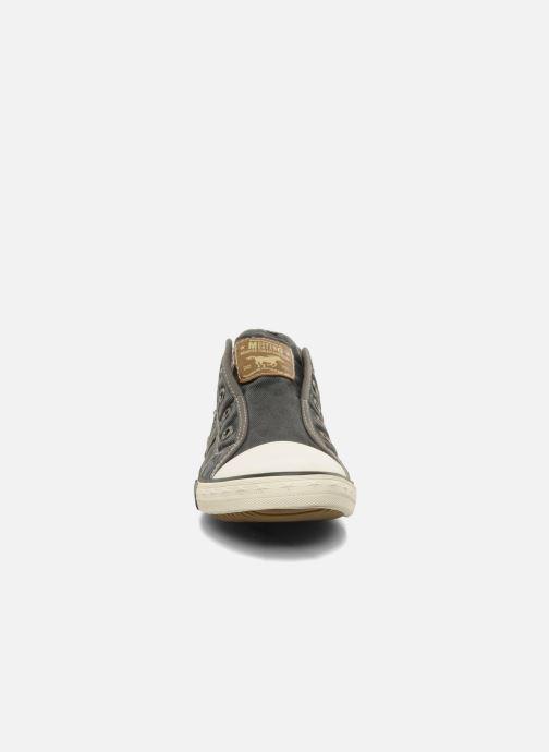 Sneaker Mustang shoes Marcus grau schuhe getragen