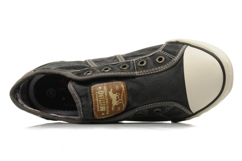 Sneaker Mustang shoes Marcus grau ansicht von links