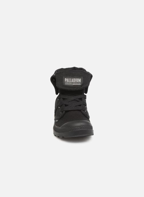 Sneaker Palladium Pallabrousse Baggy F schwarz schuhe getragen