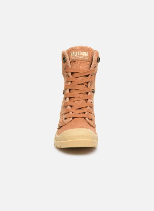 Sneaker Palladium Pallabrousse Baggy F braun schuhe getragen